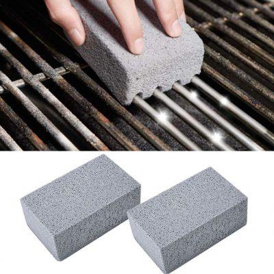 BBQ 2 sztuk Grill czyszczenie klocek Grill czyszczenie kamienia stojaki plamy smar Cleaner narzędzia
