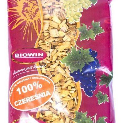 Biowin ZRĘBKI DO WĘDZENIA I GRILLOWANIA 100% CZEREŚNIA 450G