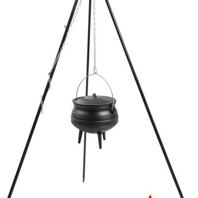 Cook King Kociołek afrykański żeliwny 13 l na trójnogu 180 cm