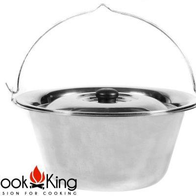 Cook King Kociołek węgierski nierdzewny z pokrywą 14l