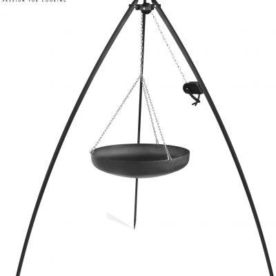 Cook King Wok na trójnogu 70cm z kołowrotkiem