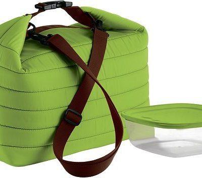 Guzzini Duża torba termiczna z pojemnikiem On the Go zielona 03290384