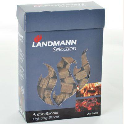 Kebo Landmann Podpałka w kostkach, 200 szt, sprasowane włókno drzewne