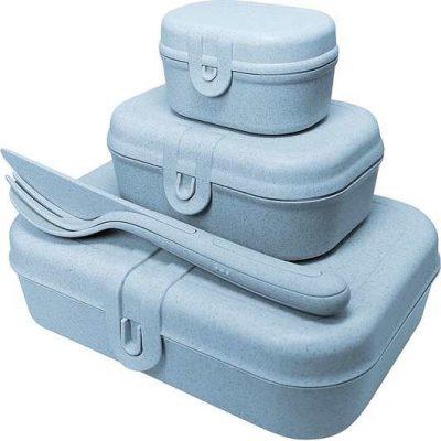 Koziol Zestaw lunchboxów Pascal Ready Organic niebieski 3168671