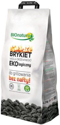Polbioeco Brykiet węgla drzewnego ekologiczny BIONATURO, 2,2 kg