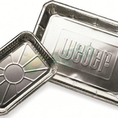 Weber Aluminiowe miski ociekowe do grillowania, małe (6415)