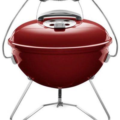 Weber Grill węglowy przenośny Smokey Joe Premium 37 cm czerwony Crimsnon 1123004) CERTYFIKOWANY PARTNER WORLD 1123004